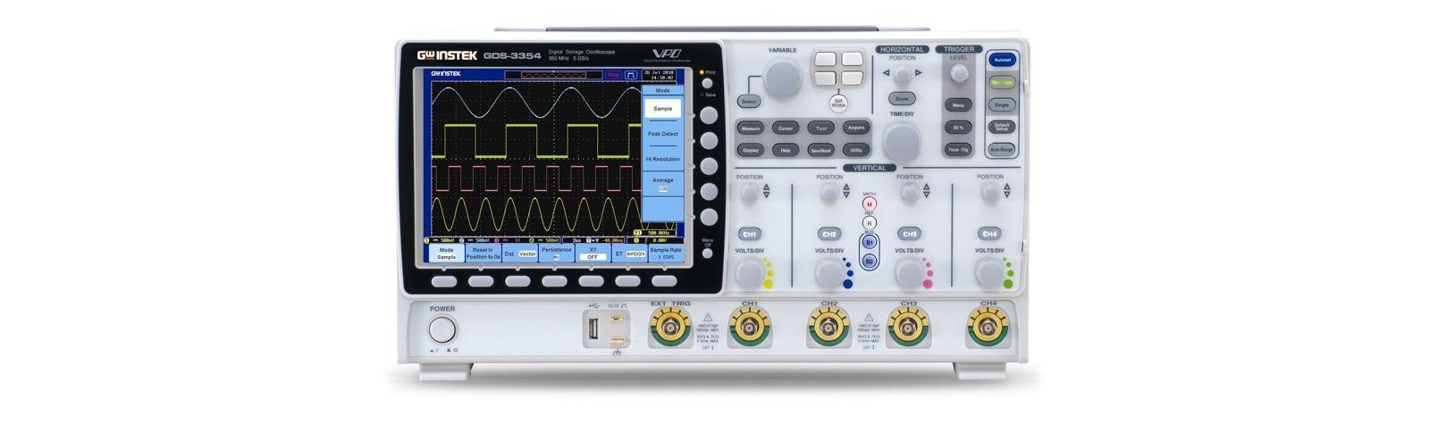 GW INSTEK GDS-3000-serie oscilloscopen
